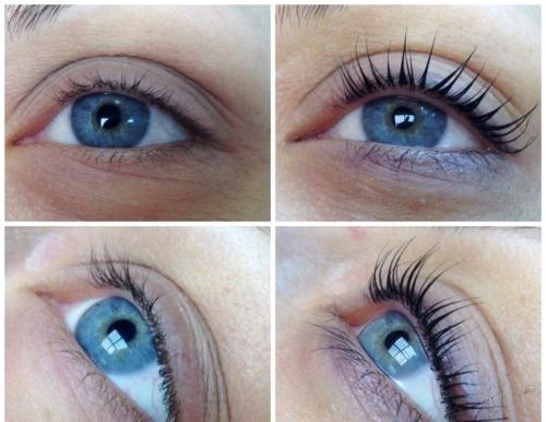 Глаза с ламинированными ресницами